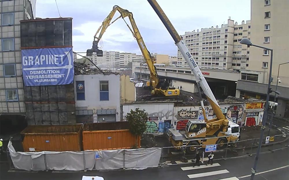 Démolition dans le cadre du projet Gratte-Ciel centre-ville
