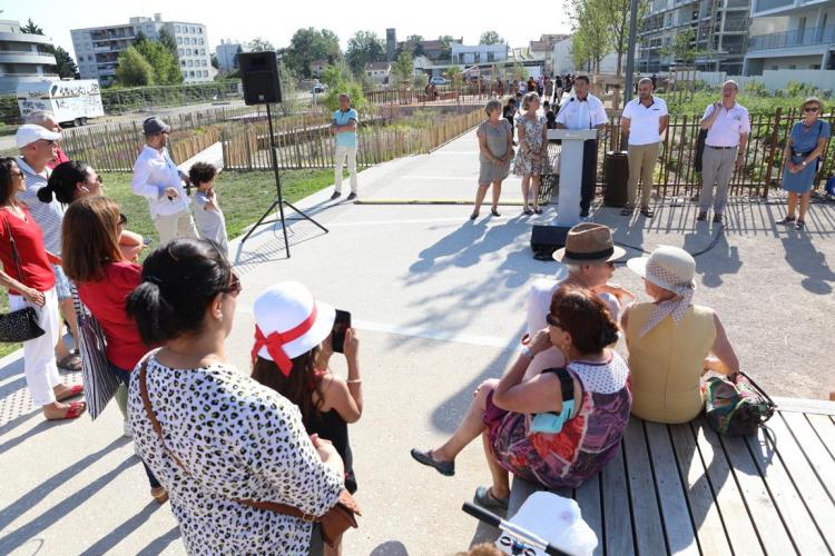 Le parc Elie-Wiesel inauguré sur le Terrain des Sœurs