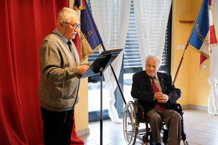 René Horner, résistant-déporté, avait été élevé au rang d'Officier dans l'Ordre de la Légion d'Honneur, vendredi 28 février 2020.