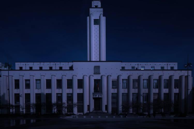 """L'hôtel de ville de Villeurbanne est déjà éteint chaque année à l'occasion de l'événement """"Earth Hour""""."""