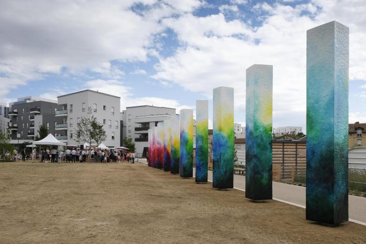 Le parc Jorge-Semprun inaugurés à Villeurbanne la Soie