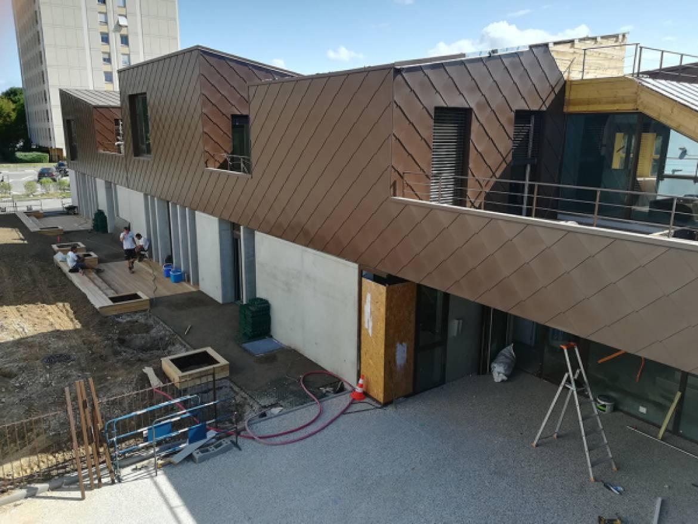 Visite de chantier dans les écoles de Villeurbanne