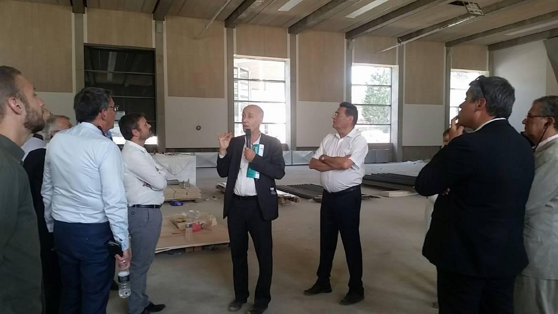 Les acteurs du projet font le tour des chantiers