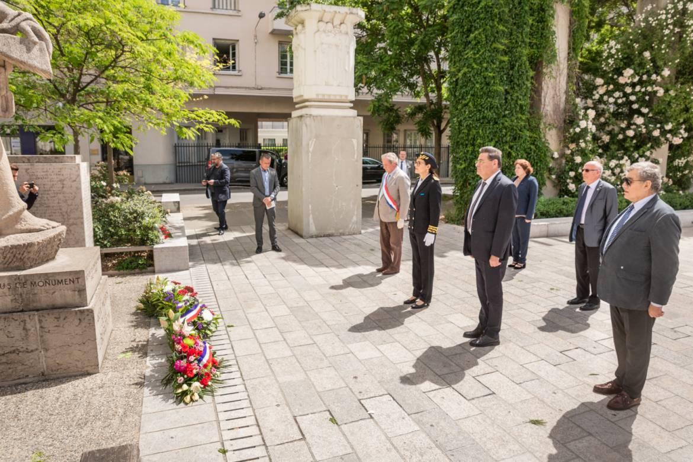 La cérémonie du du 8 mai 1945 et du 75e anniversaire de la victoire sur le nazisme s'est déroulée en comité restreint.
