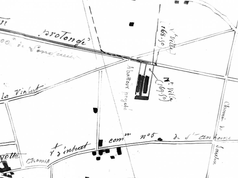 Projet d'abattoir sur le cours Emile-Zola en 1885