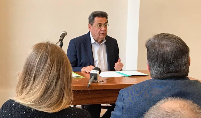 Jean-Paul Bret lors de sa conférence de presse, mardi 11 juin 2019.