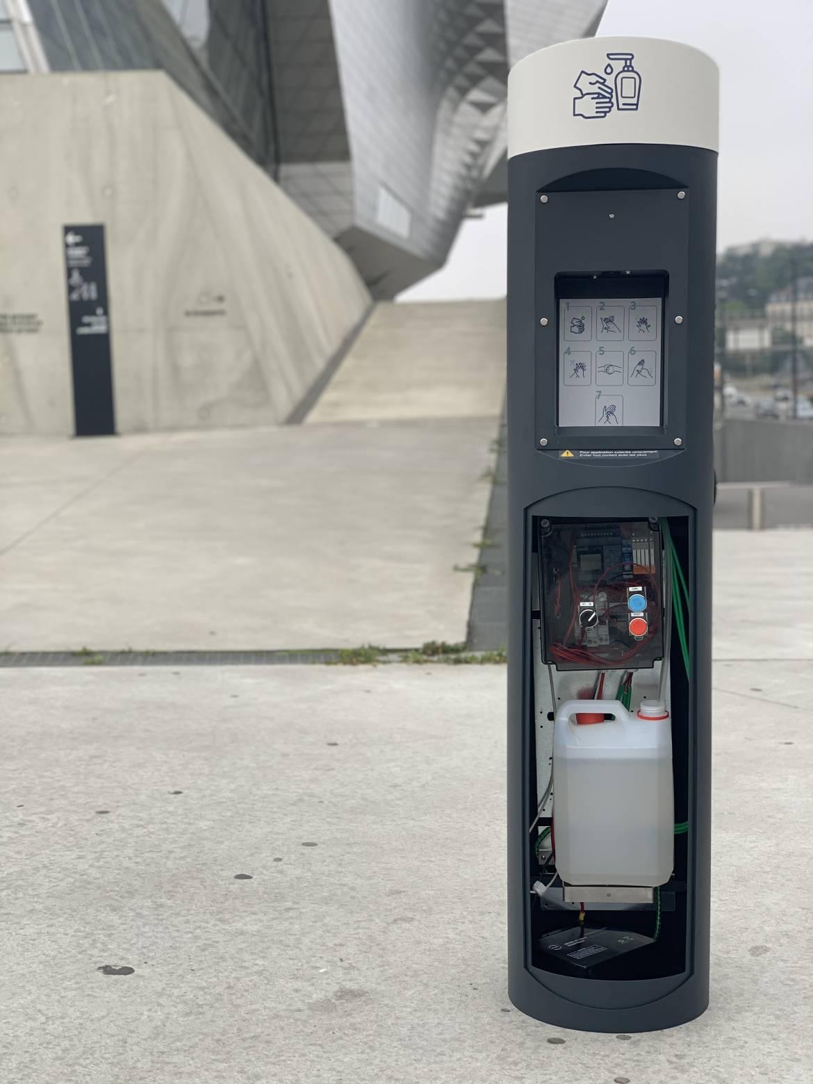 Un exemple de distributeur installé à Lyon Confluence. Les mêmes modèles équiperont Villeurbanne.
