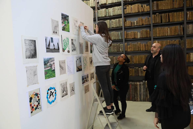 exposition du Lycee Marie Curie à l'URDLA