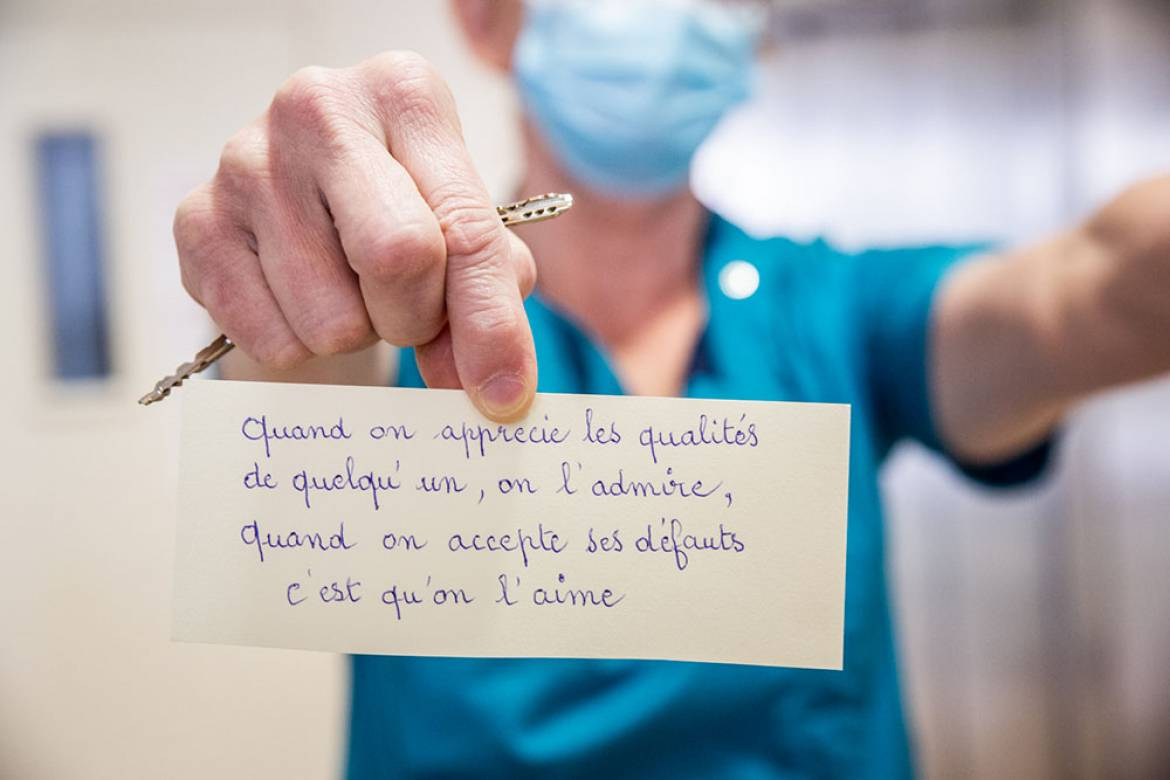 Message d'une résidente à l'attention du personnel à la résidence Jean-Jaurès