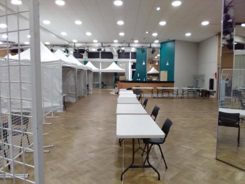 Le centre municipal de vaccination de Villeurbanne est prêt, il devrait ouvrir le 1er févirer.