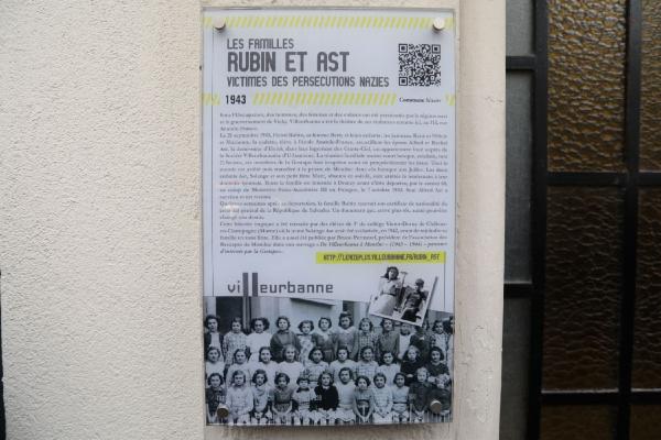 En mémoire des familles Rubin et Ast, victimes des persécutions nazies
