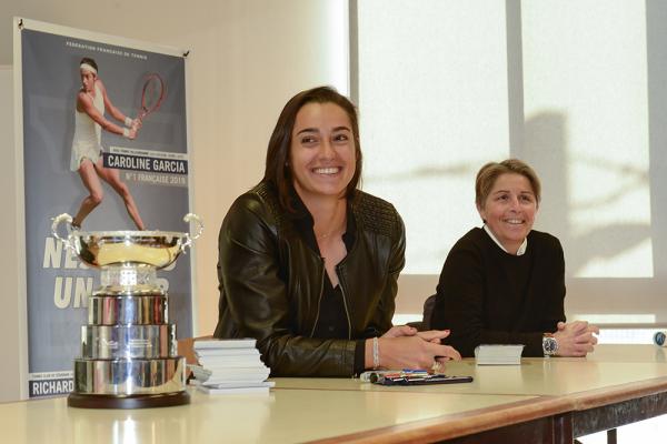 Caroline Garcia à l'Asul tennis de Villeurbanne