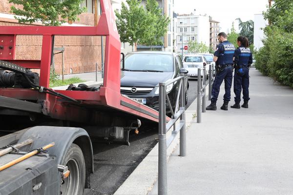 La police municipale intervient aux Maisons-Neuves