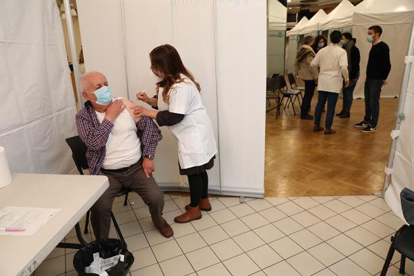 Centre de vaccination à Villeurbanne